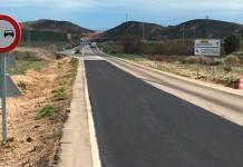 Obras de mejora el firme en la LR-134 entre Arnedo y Calahorra