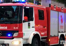 Autobomba del parque de Bomberos del CEIS Rioja en Arnedo
