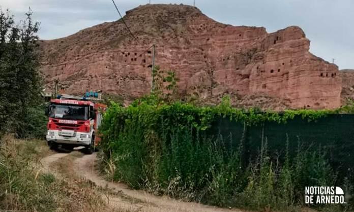 Bomberos del CEIS Rioja en el término de Renocal de Arnedo