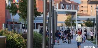 Entorno de uno de los centros educativos de Arnedo