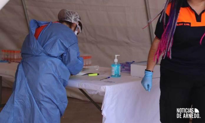 Zona de trabajo en el Centro de Diagnóstico Móvil junto al Arnedo Arena