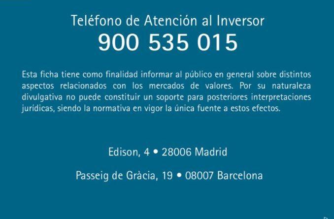 CNMV teléfono Atencion