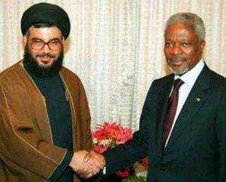 Los secretarios generales de Hizbollah y la ONU