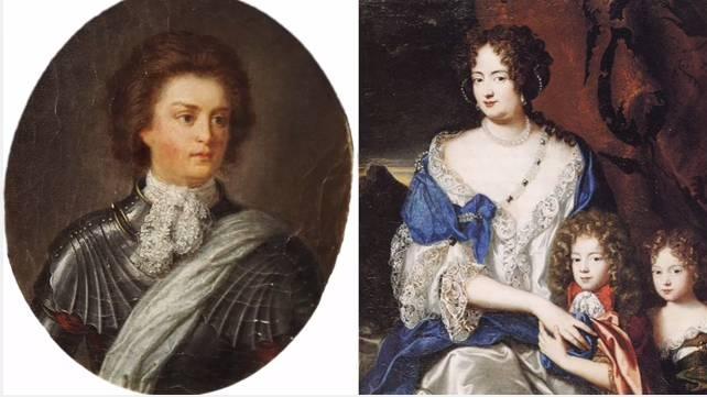 A la izquierda, retrato de Felipe Christoph de Königsmarck, de autoría y fecha desconocidas. A la derecha, retrato de Sofía Dorotea pintado alrededor de 1691 y atribuido a Jacques Vaillant. (Fuente: Wikimedia)