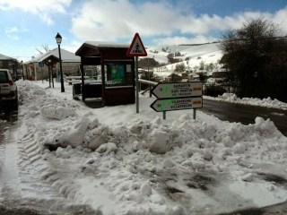 La nieve se deja ver en gran parte de la comarca 4