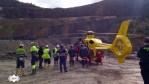 Un trabajador herido grave en la mina de oro de Boinás, en Belmonte 1