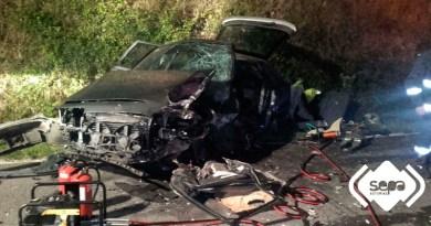 accidente de tráfico en Caroyas