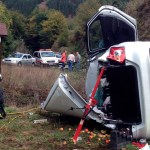 Una mujer herida en un accidente de tráfico en Cangas del Narcea
