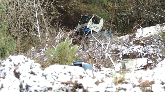 Accidente grúa El Acebo Grandas de Salime