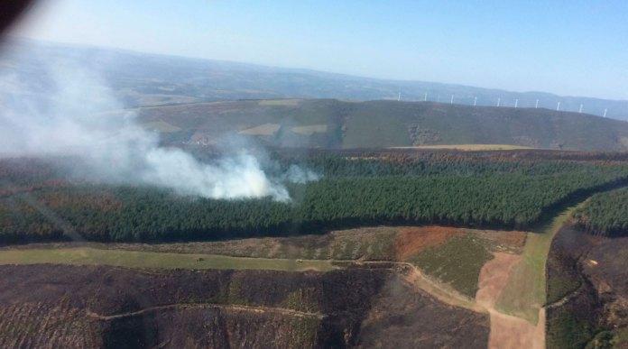 Incendio en Morentán