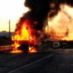 Arde un camión en Castropol