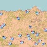 16 puertos y 21 carreteras afectadas por la nieve en el Occidente