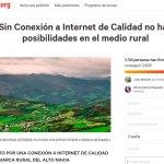 Recogen firmas por un internet de calidad en el Alto Navia