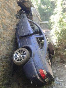 Accidente de tráfico en Las Fraguas, en Cangas del Narcea 2