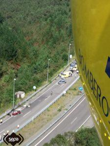 Dos heridos en un accidente de tráfico en Cadavedo, en Valdés 3