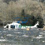 Accidente del helicóptero de la BRIF mientras trabajaba en la extinción de un incendio en Belmonte