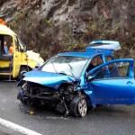 Una mujer herida grave en accidente de tráfico cerca de Calabazos, en Tineo