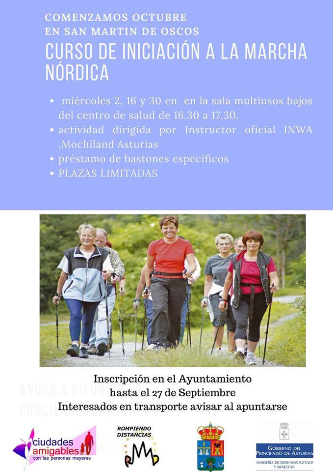 Curso de iniciación a la marcha nórdica en San Martín de Oscos 1