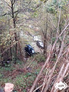 Herido un hombre de 31 años en accidente de tráfico en Brañasivil, en Salas 1
