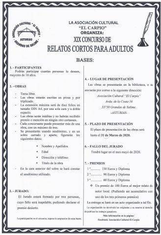 concurso relatos asociacion el carpio grandas de salime