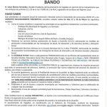 Bando Ayuntamiento Vegadeo 12/03/2020