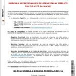 Medidas de atención al público en el Ayuntamiento de Salas