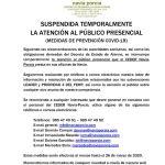 Suspensión atención al público CEDER Navia-Porcía