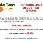 Horarios línea de bus entre Los Oscos y Vegadeo