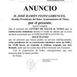 El Ayuntamiento de Tineo pide colaboración para el correcto funcionamiento de la atención médica telefónica