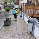 Limpieza y desinfección de espacios públicos en Allande