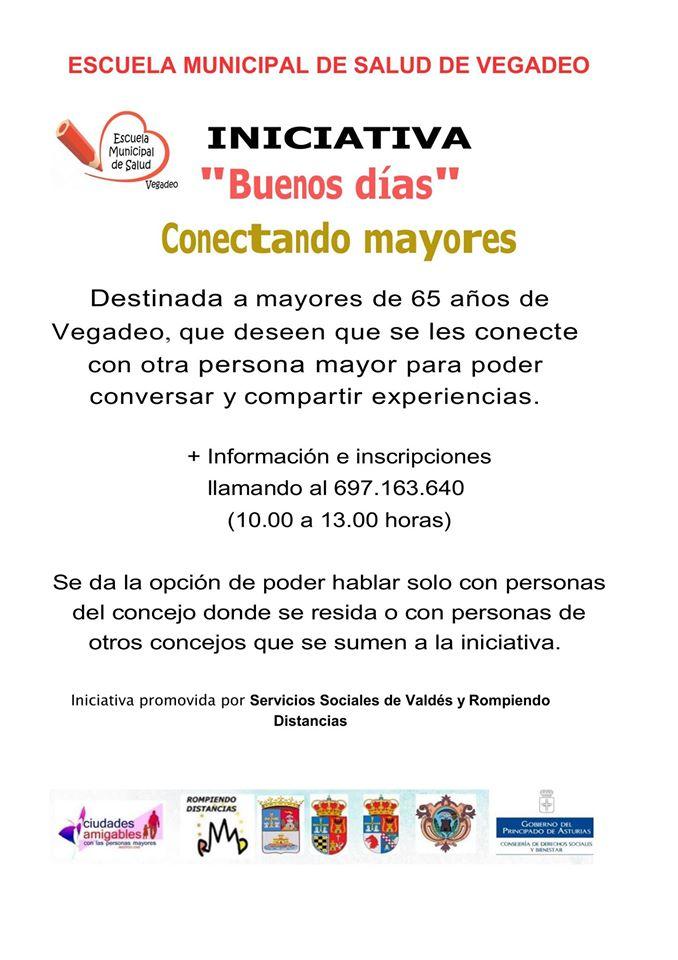 Iniciativa 'Buenos días, conectando mayores' en Vegadeo 1