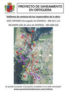 Inicio de las obras de saneamiento de Ortiguera 4