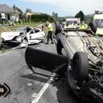 Dos heridos en un choque entre dos vehículos en Coaña
