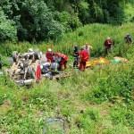 Dos heridos tras salirse de la vía y volcar en Belmonte