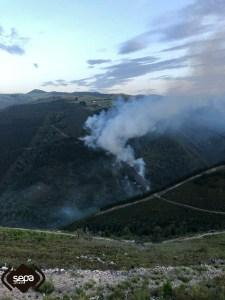 Incendio forestal en Tabladiello, en Cangas del Narcea 6
