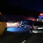 Dos heridos en un accidente en La Millariega, en Tineo