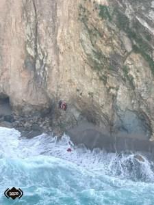 Rescatados en Cudillero dos buzos que practicaban pesca submarina 2