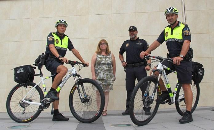 En bici con la Policía Municipal