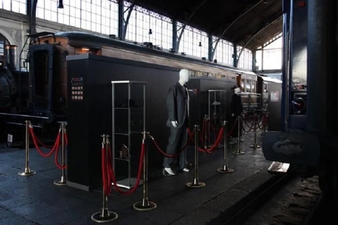 Trenes y novela negra en el Museo del Ferrocarril