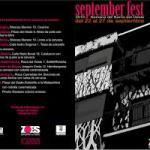 Programa Fiestas Barrio Oeste Salamanca Septiembre 2016