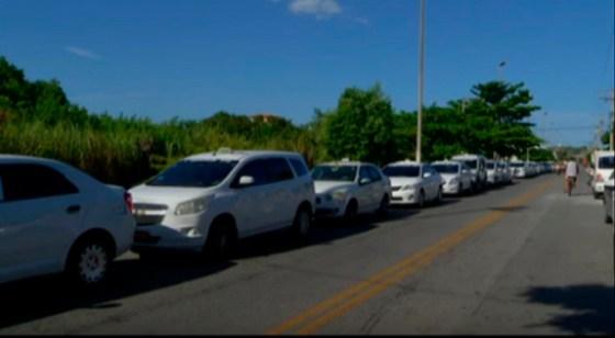 Protesto de taxistas em Cabo Frio