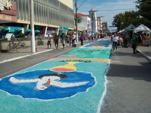 Tapetes de sal serão feitos para o Corpus Christi Cabo Frio