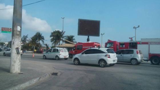 Acidente em São Pedro da Aldeia nesta segunda
