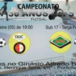 ESPORTE – Rodada dupla de Futsal no ginásio Alfredo Barreto pelo campeonato 30 anos LCFS de Futsal