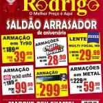 ÓTICAS RODRIGO – Vem aí o SALDÃO ARRASADOR de Aniversário das Óticas Rodrigo