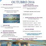 Secretaria de turismo, cultura e lazer divulga agenda cultural do mês de outubro 2016