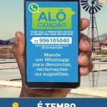"""SÃO PEDRO DA ALDEIA – WhatsApp """"Alô Cidadão"""" da Prefeitura de São Pedro da Aldeia tem novo número"""