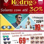 ÓTICAS RODRIGO – Chegou o verão nas Óticas Rodrigo e os óculos solares estão com preços imperdíveis