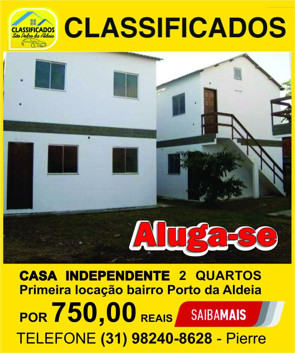 ALUGA-SE CASA COM 2 QUARTOS NO BAIRRO PORTO DA ALDEIA R$ 750,00