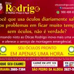 ÓTICAS RODRIGO – Óculos para perto ou para longe com tratamento antirreflexo pronto em 1 hora